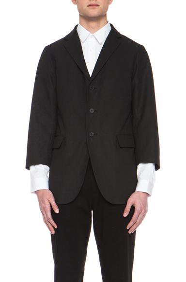 JIL SANDER   Corinne Linen-Blend Jacket in Black