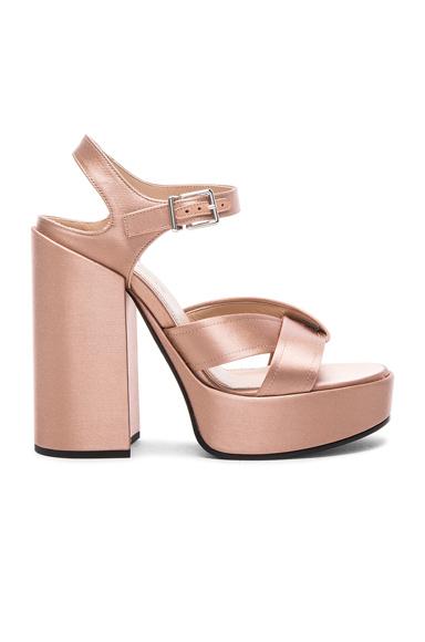 Jil Sander Satin Heels in Pink