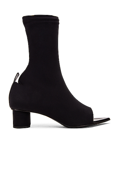 JIL SANDER | Jil Sander Open Toe Bootie In Black. - Size 40 (Also In 36,36.5,37,37.5,38,38.5,39,39.5) | Goxip