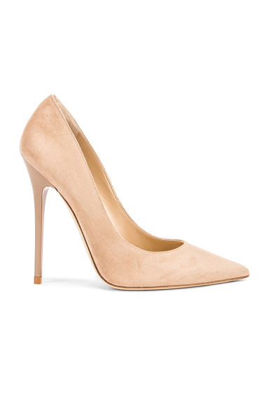 Jimmy Choo Anouk Suede Pumps in Neutrals