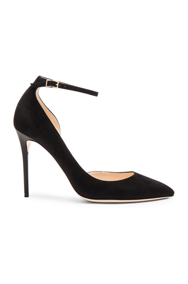 Photo of Jimmy Choo Suede Lucy Heels in Black online womens shoes sales
