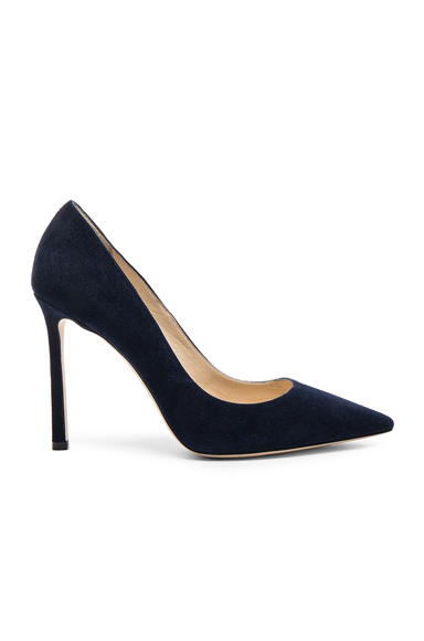 Jimmy Choo Suede Romy Pumps in Blue