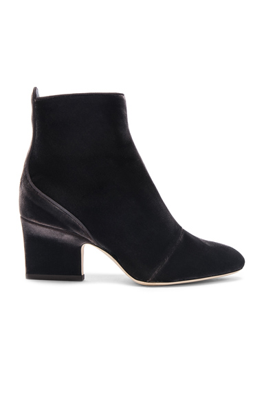 Photo of Jimmy Choo Velvet Autumn Boots in Gray online womens shoes sales