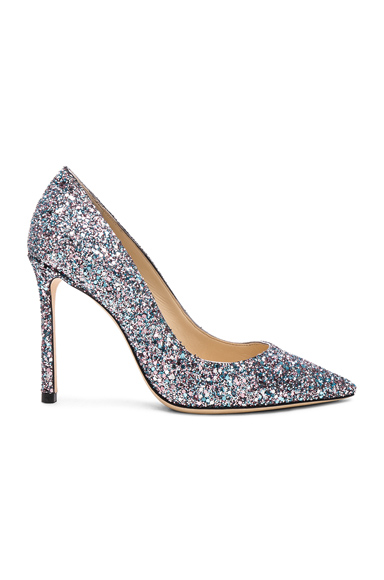 JIMMY CHOO | Jimmy Choo Romy 100 Glitter Heels In Multi. - Size 41 (Also In 37,38,38.5,39,39.5,40) | Goxip