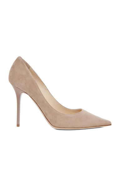 Jimmy Choo Abel Suede Pumps in Neutrals