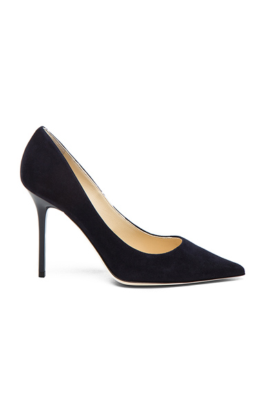 Jimmy Choo Abel Suede Pointed Pumps in Blue