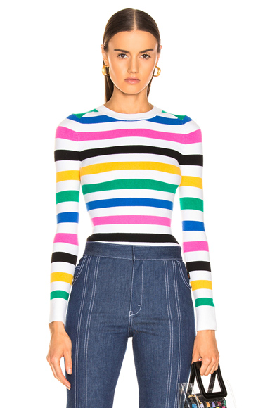 JOOSTRICOT   JoosTricot Crew Neck Sweater In Multi. - Size XS (Also In L,M,S)   Goxip