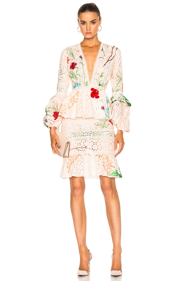 Johanna Ortiz Vittoria Dress in Floral, Pink