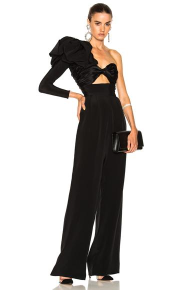 Johanna Ortiz Love Spell Silk Crepe Jumpsuit in Black