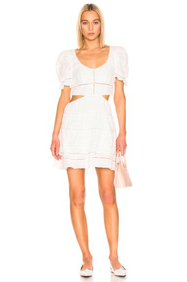 JONATHAN SIMKHAI | JONATHAN SIMKHAI Lace Cut Out Mini Dress In White. - Size XS (Also In L,M,S) | Goxip