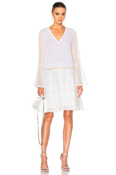 JONATHAN SIMKHAI Voile Tunic Dress in White