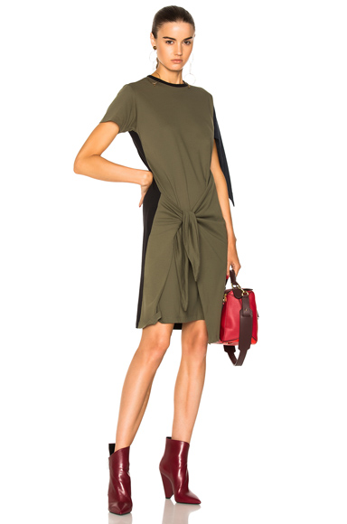 JW Anderson Tri Colour Knot Dress in Green