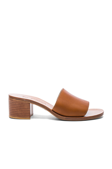 K Jacques Leather Caprika Sandals in Neutrals, Brown