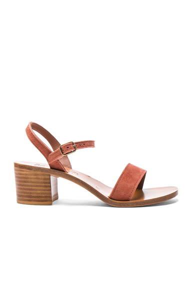 K Jacques Suede Alegria Sandals in Pink