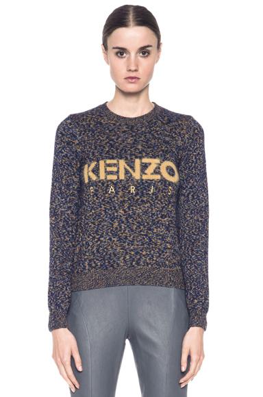 KENZO|Logo Sweater in Bleu Nuit [1]