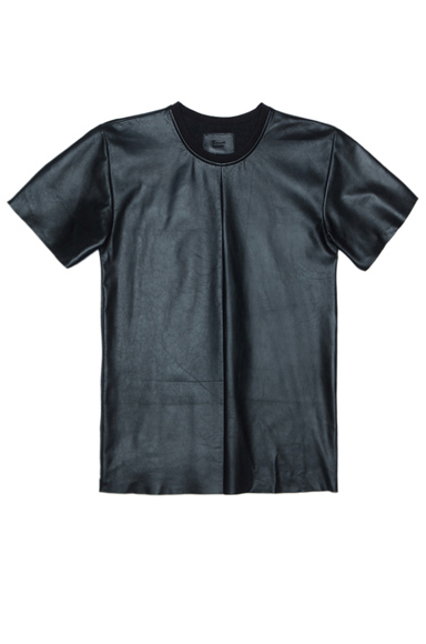 LAER | Leather Tee in Black