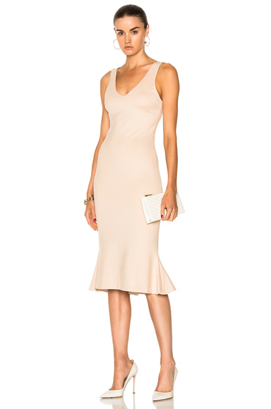 L'AGENCE Lucia Dress in Neutrals