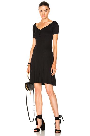 L'AGENCE Elia Off Shoulder Dress in Black