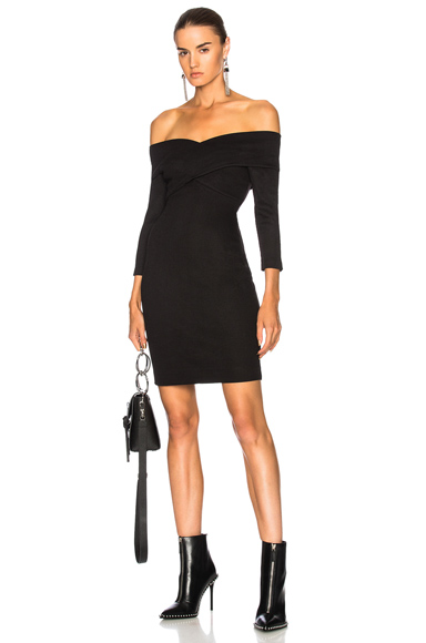 L'AGENCE Fantina Dress in Black