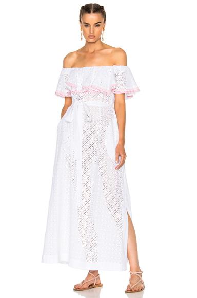 Lisa Marie Fernandez Mira Dress in White