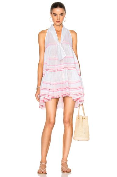 Lisa Marie Fernandez Sheer Mini Baby Doll Dress in Pink, White