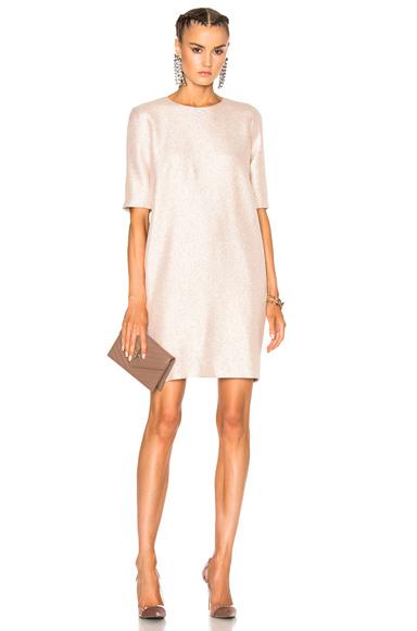 Lanvin Shift Dress in Pink, Neutrals, Metallics