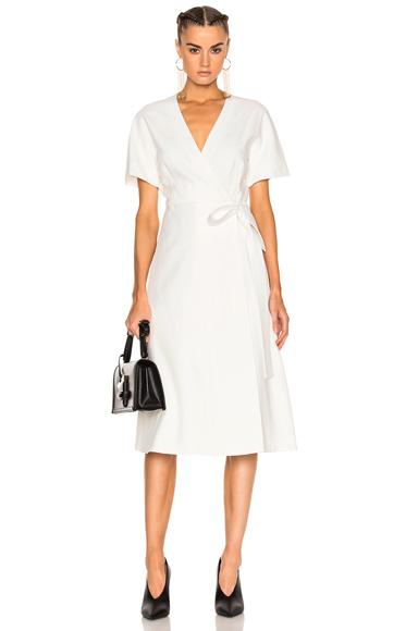 Lanvin Wrap Dress in White