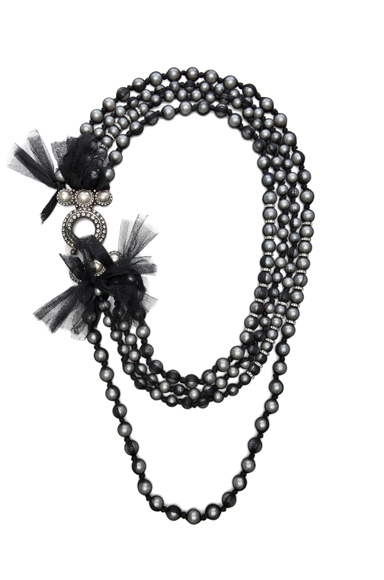 LANVIN | 10 Year Anniversary Pearl Necklace in Black