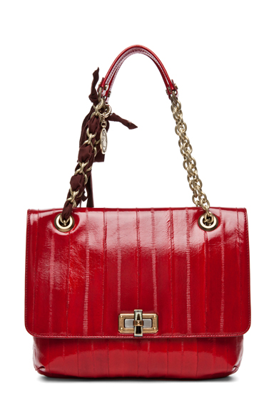 LANVIN | Happy Medium Shoulder Bag in Red