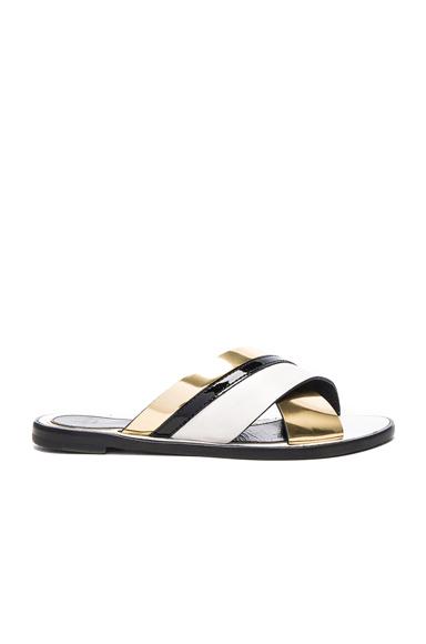 Lanvin Boucle Sandals in Black, Metallics