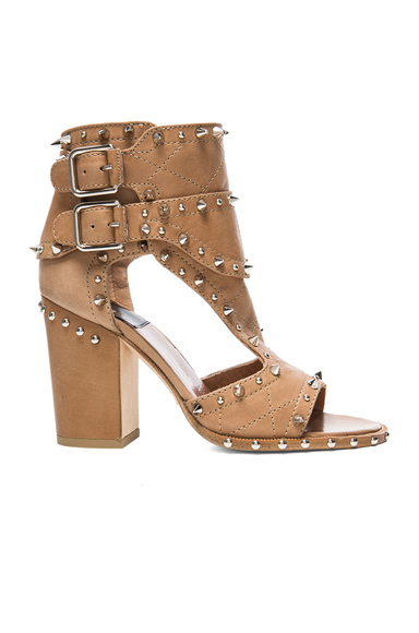Laurence Dacade|Deric Calfskin Leather Heels in Beige & Silver [1]