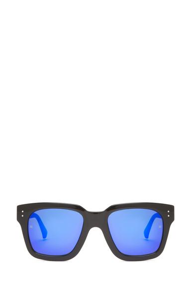 LINDA FARROW | Square Sunglasses in Black