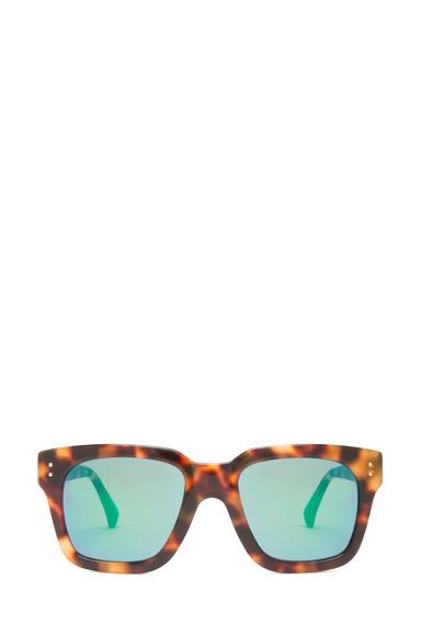 LINDA FARROW | Square Sunglasses in Tortoise