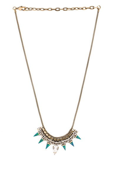 LIONETTE BY NOA SADE | Pangea Necklace in Clear & Green