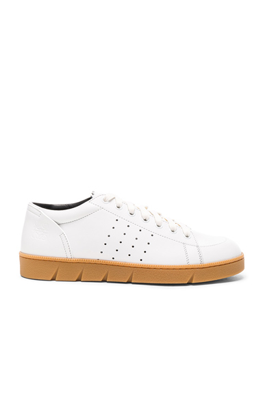 Loewe Leather Sneakers in White