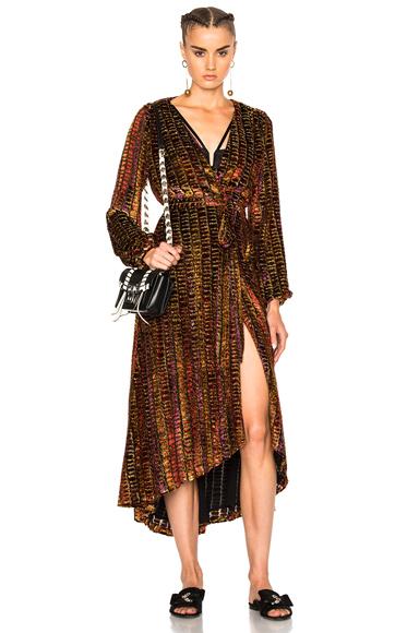 LPA Dress 70 in Stripes, Metallics, Red, Purple