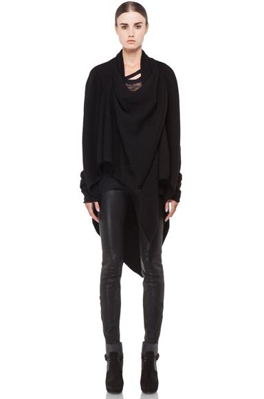 Lars Andersson Tail Coat Wrap in Black   FWRD [2]