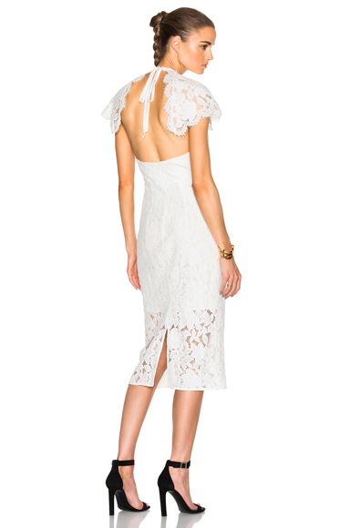 Lover Affinity Midi Dress in White