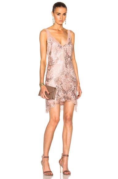 Lover Opium Slip Dress in Pink, Metallics