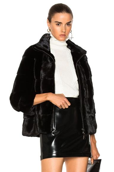 Lilly e Violetta Zoe Mink Coat in Black