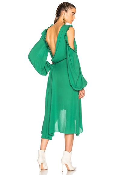 Magda Butrym Calgiari Dress in Green