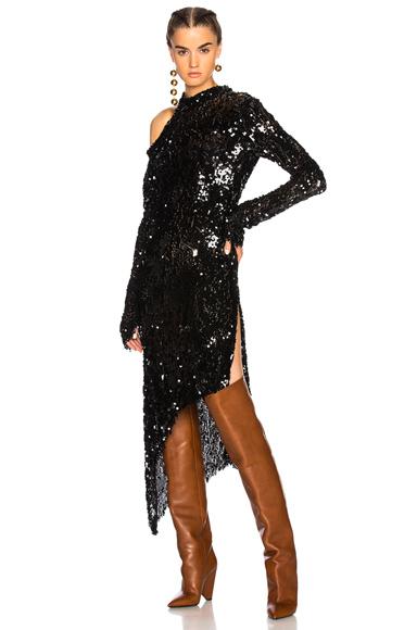 Magda Butrym Blackpool Sequin Dress in Black