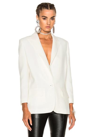 Magda Butrym San Carlos Blazer Jacket in White