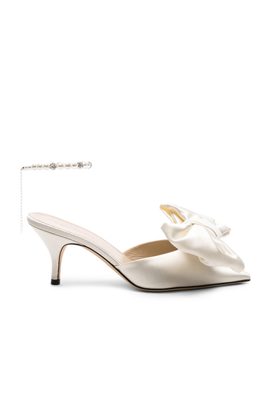 MAGDA BUTRYM   Magda Butrym Satin China Mules In White. - Size 40 (Also In )   Goxip