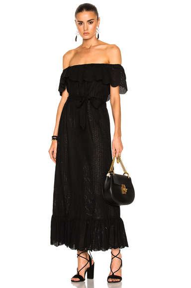 Marysia Swim Off Shoulder Dress in Black