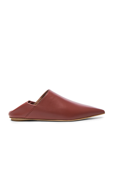 Marni Leather Sabot Mules in Brown