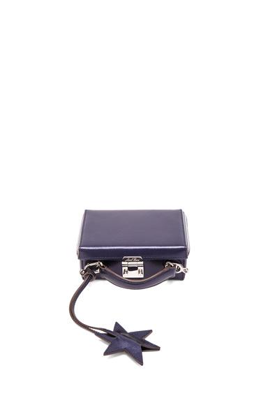 Mark Cross Saffiano Grace Mini Box in Metallics, Blue.