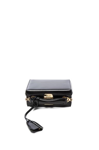 Mark Cross Grace Mini Box Bag in Black.
