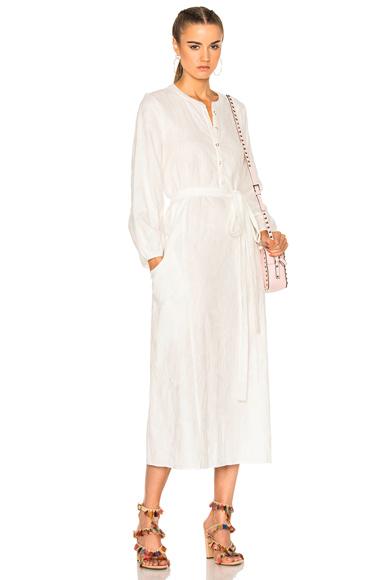 Mara Hoffman Peasant Dress in White