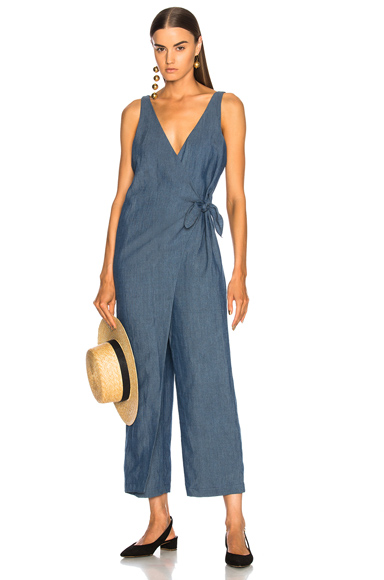 Mara Hoffman Meryl Wrap Jumpsuit in Blue